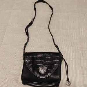 Brighton genuine leather cross body bag with charm